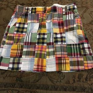 J Crew patchwork skirt size 8 Favorite Fit